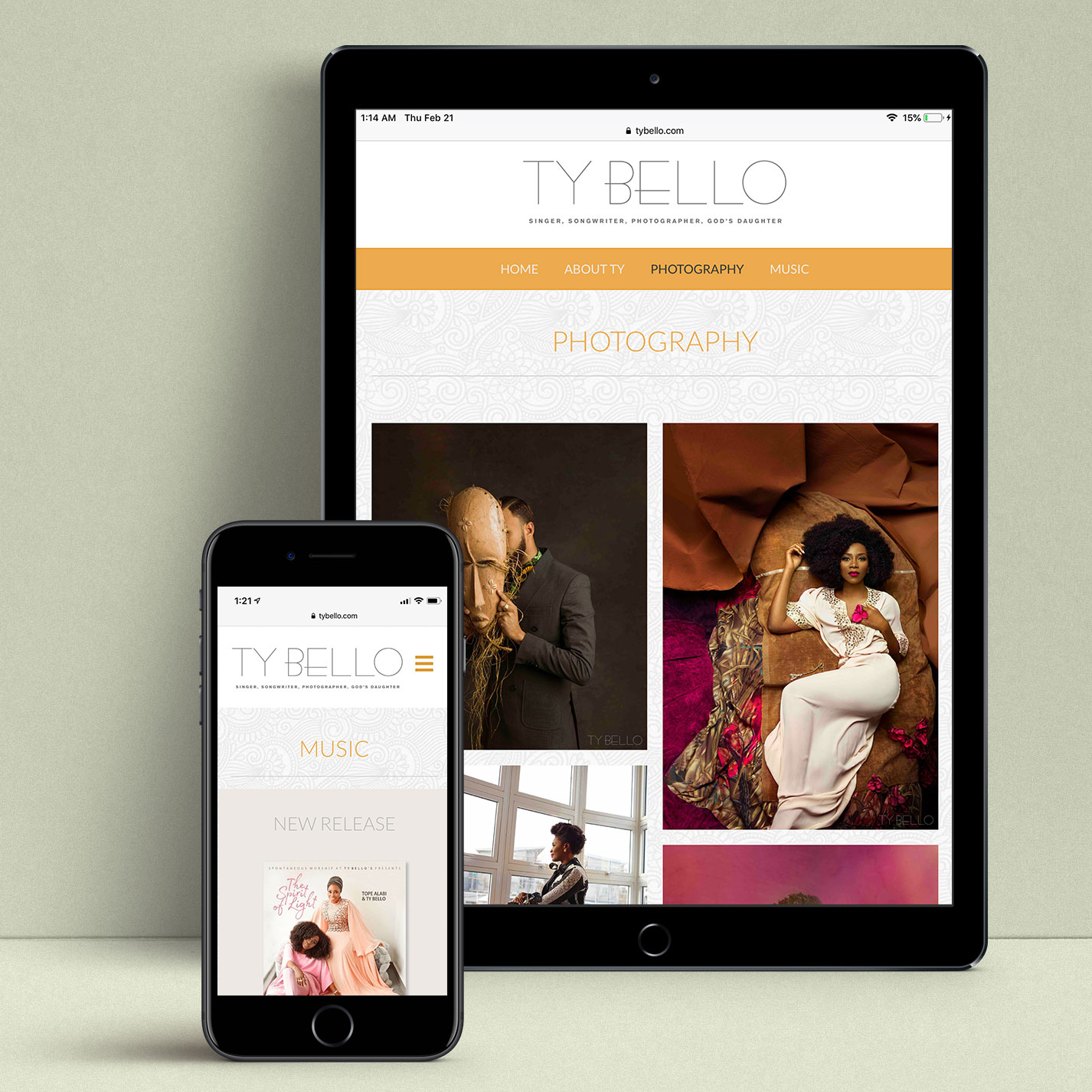 Responsive design for mobile and tablets